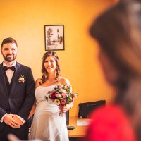 Les mariés devant la maire de Spoy