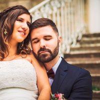 Moment de calme pour les mariés