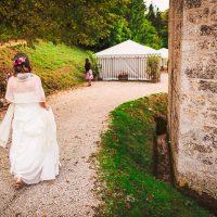 Arrivée de la mariée au vin d'honneur