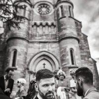 Marié après la cérémonie religieuse à l'église de Spoy