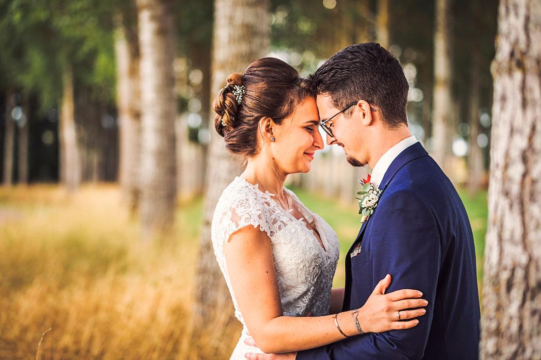 Couple mariés en bourgogne