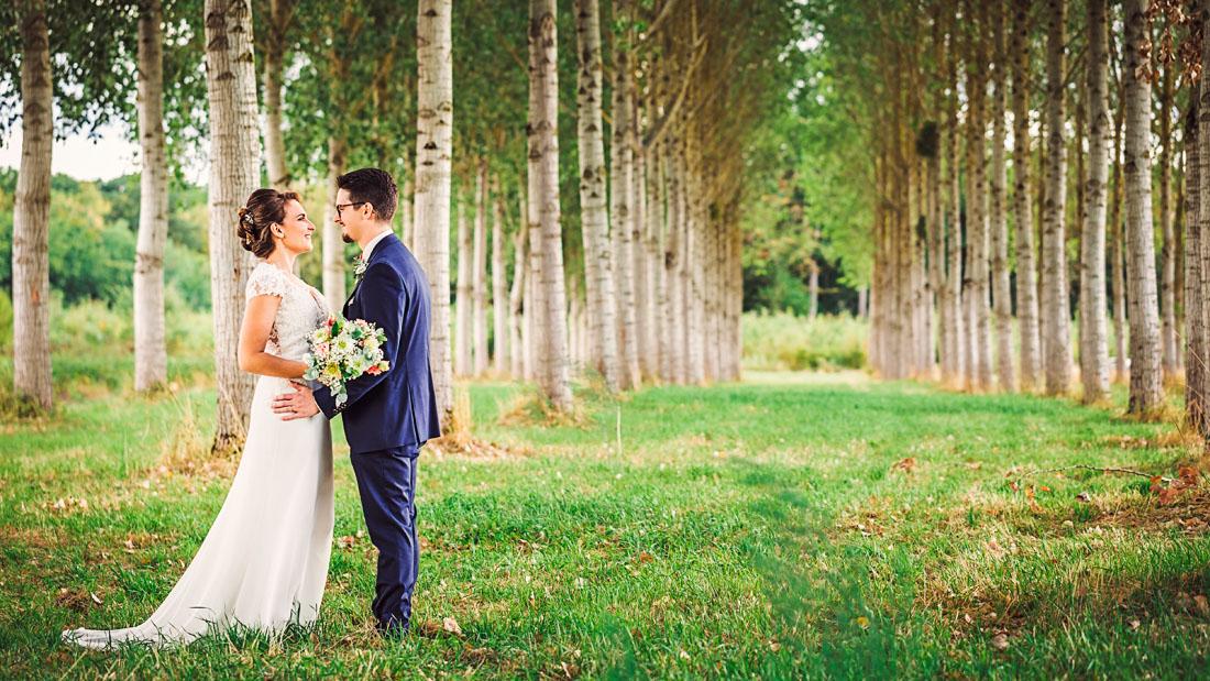Couple de mariés en Cote d'Or