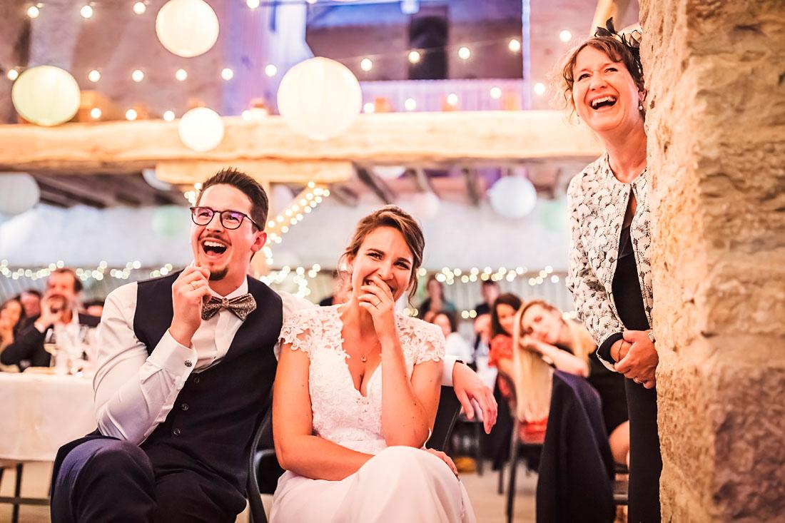 Rires des mariés